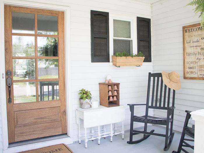 Front Porch Ideas: Small Front Porch Makeover - Seeking Lavender La