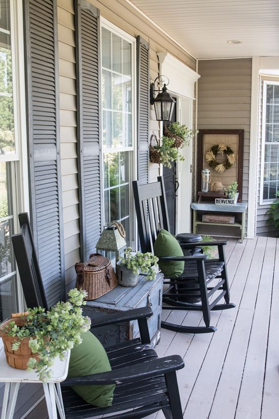 Our Most Asked Question - Our Exterior House Colors | Front porch .