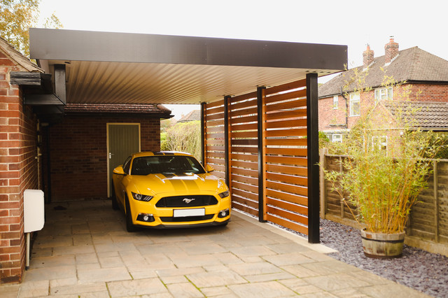 Funky Car Port - Contemporary - Garage - Other - by Prospect Desi