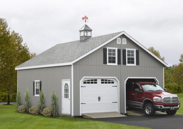 Garage Storage Sheds, Double Wide, 7 Pitch Roof and Mega Garages .