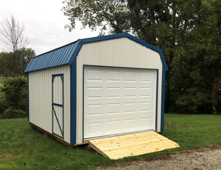 LakeSide Sheds - Hi-Wall Barn or Garden Shed Garage - Metal .