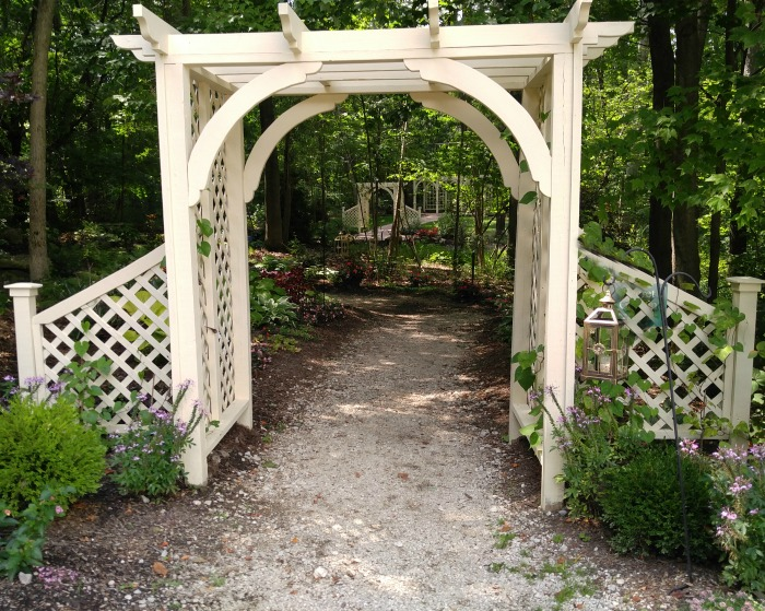 Garden Arbors and Arches - Metal Stone Wood and Plastic Arbor Ide