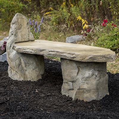 Cast Stone, Basalt Lounge Garden Bench | eB