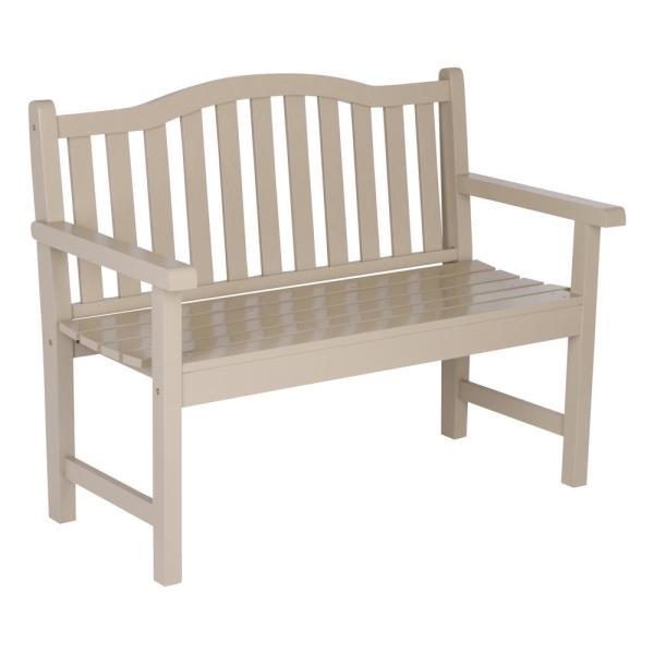 Shine Company Belfort Cedar Wood Outdoor Garden Bench 43.25 in .