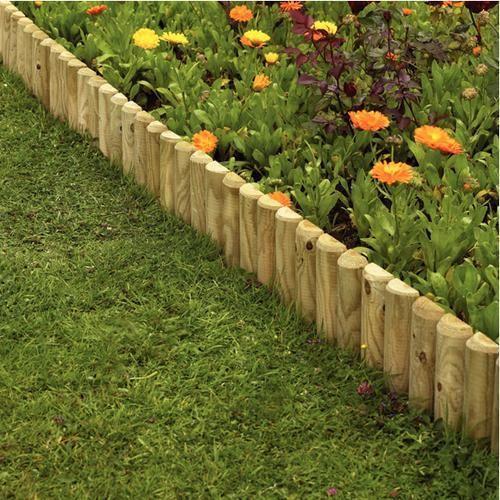 garden border ideas uk gardens fencing garden edgings log rolls .