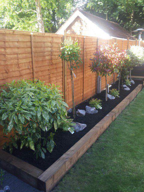 Image result for border edging sleepers | Backyard landscaping .
