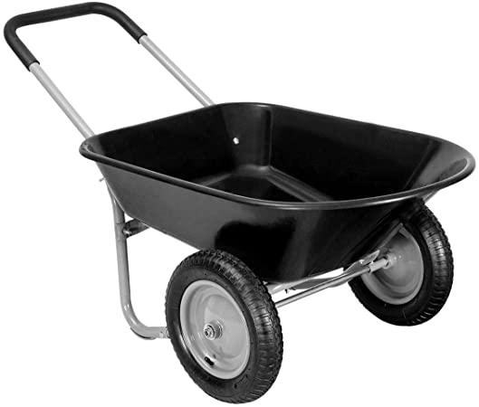 Amazon.com : Giantex 2 Tire Wheelbarrow Yard Garden Cart Heavy .