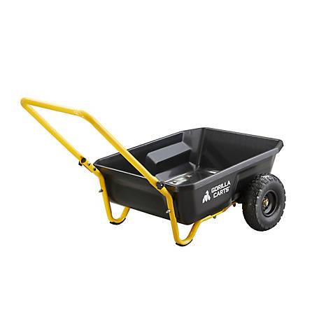 Gorilla Carts 4 Cu Ft Poly Yard Cart, GCR-4 at Tractor Supply C