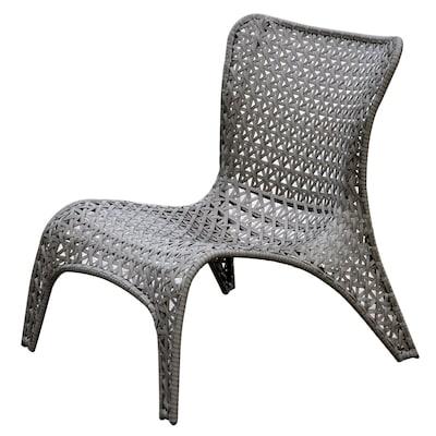 Garden Treasures Tucker Bend Black Steel Seat Woven Patio Chairs .