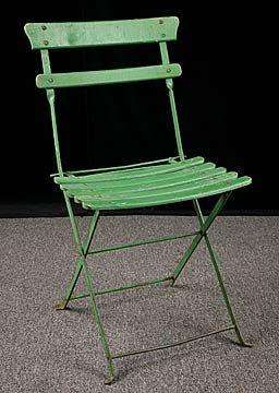 vintage french garden folding chair | Folding garden chairs .