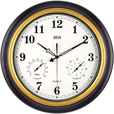 Amazon.com : Large Outdoor Clock, Waterproof Wall Clock with .