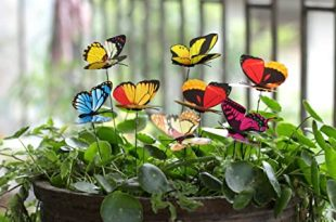 Amazon.com: Ginsco 25pcs Butterfly Stakes Outdoor Yard Planter .
