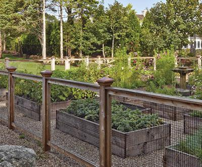 Wire and Wood Garden Fences West Barnstable,