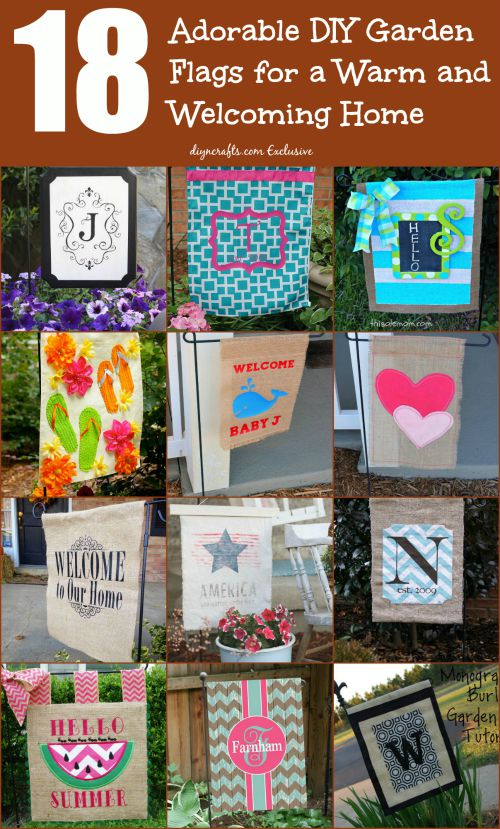 18 Adorable DIY Garden Flags for a Warm and Welcoming Home - DIY .
