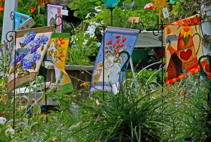 Hang Decorative Garden Flags to Spruce Up Your Backya