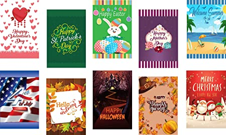 Amazon.com : Seasonal Garden Flags Set of 10 for Outdoors - 10 .
