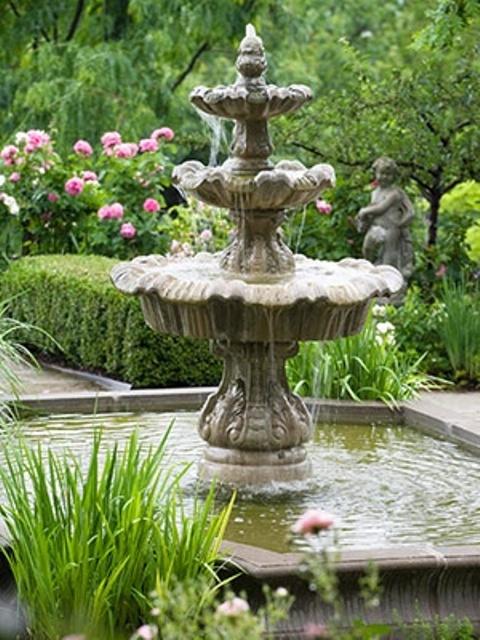 32 Beautiful Garden Fountains Ideas To Get Inspired - Gardenohol