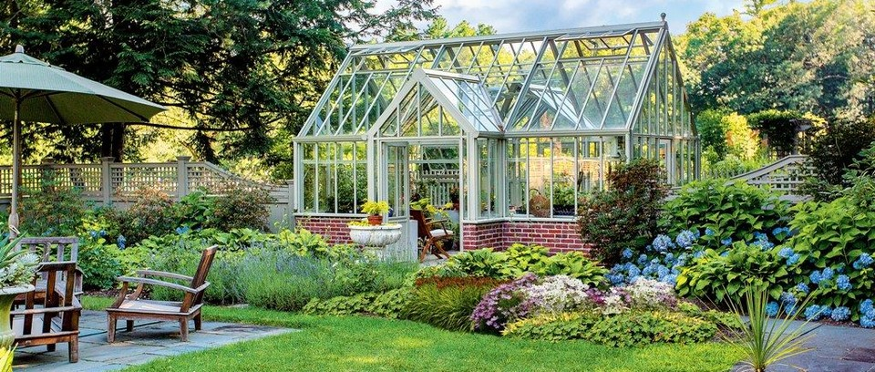 9 stylish greenhouses with porches - Gardens Illustrat