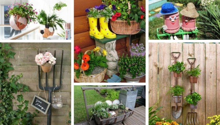 Making unusual DIY garden decoration yourself - 40+ upcycling .