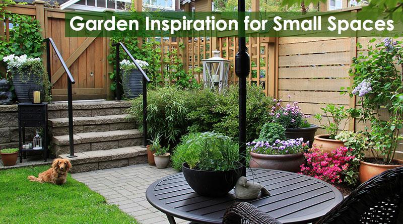 Garden Inspiration for Small Spaces - Dot Com Wom