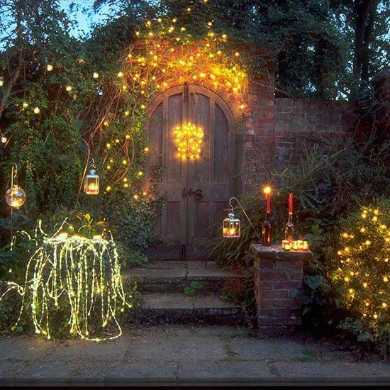 Outdoor Christmas lighting ideas | Outdoor fairy lights, Christmas .