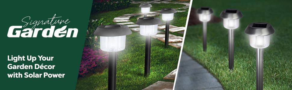 Amazon.com : Signature Garden Solar Garden Lights 8 Pack Super .
