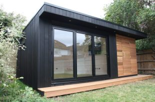 Garden Office with Storage Shed and Sauna - Contemporary - Home .