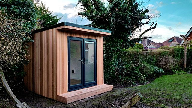 Garden Office Pod | Small garden office pod, Small garden office .