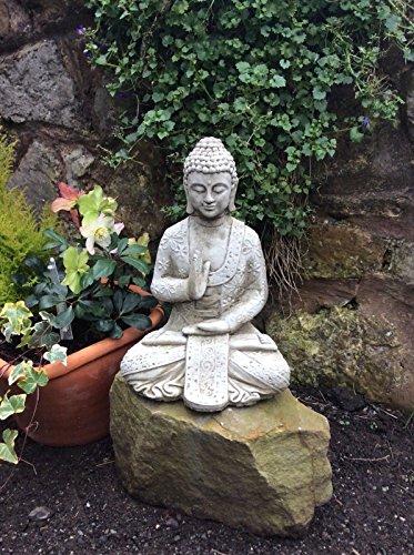 Stone Buddha Garden Ornament In Meditation Statue Shrine by Mr .