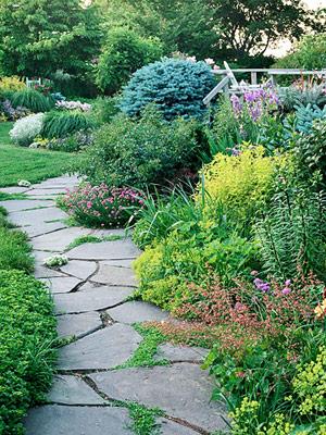 Pictures of garden paths garden walkways, raised garden bed materi