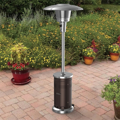 Garden Treasures 47000-BTU Mocha Steel Floorstanding Liquid .