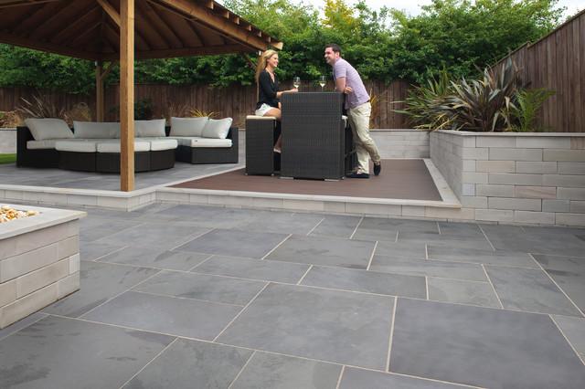Marshalls Fairstone Casarta Slate Garden Paving - Contemporary .