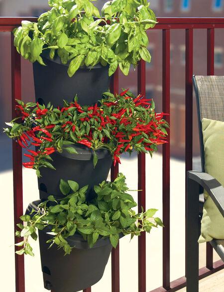 Bloem 3-Piece Hanging Fence or Railing Planters | Gardener's Supp