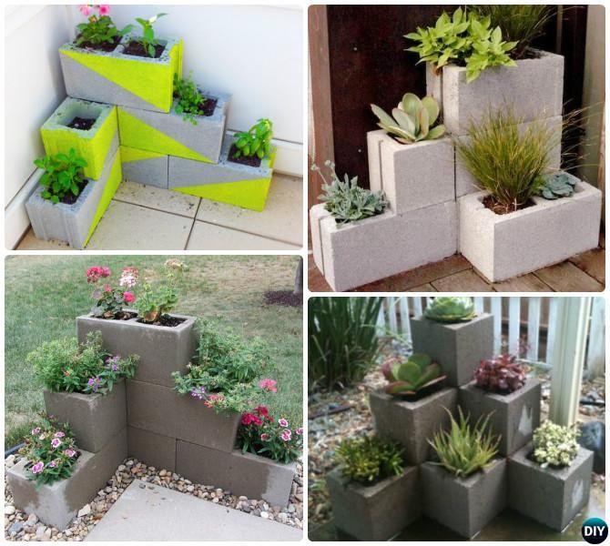 DIY Cinder Block Garden Projects Instructions | Diy garden .