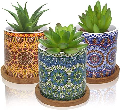 Amazon.com : Succulent Pots Small Succulent Planters Bohemian .