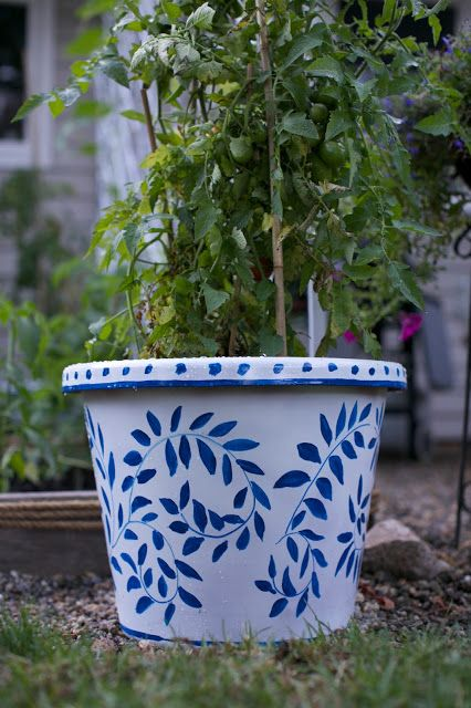 Garden/ Patio Makeover Reveal *fixed glitches* | Paint garden pots .