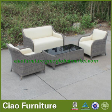 CF1888, China Leisure outdoor rattan PU leather furniture garden .