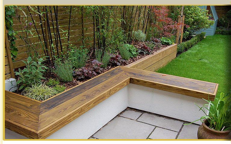 Raised flower beds with seating   Raised garden, Garden seating .