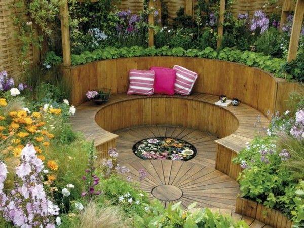 garden corner seating ideas - Google Search   Garden design .