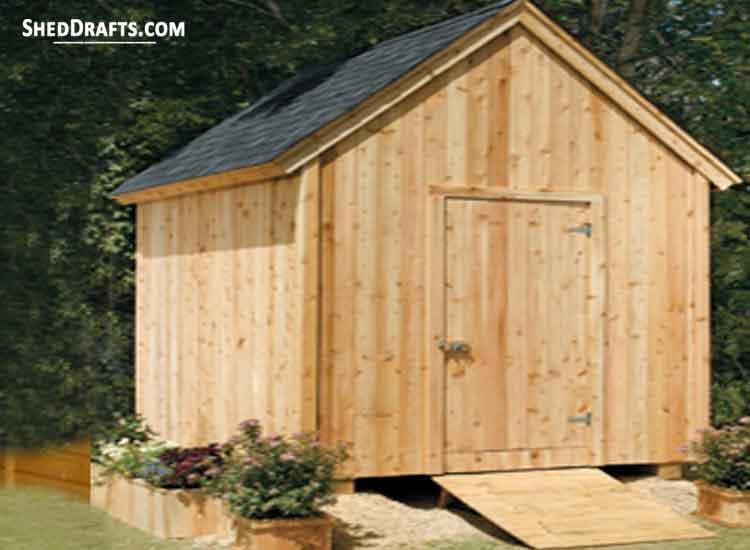 8×10 Garden Shed Plans & Blueprints For Building a Storage Sh