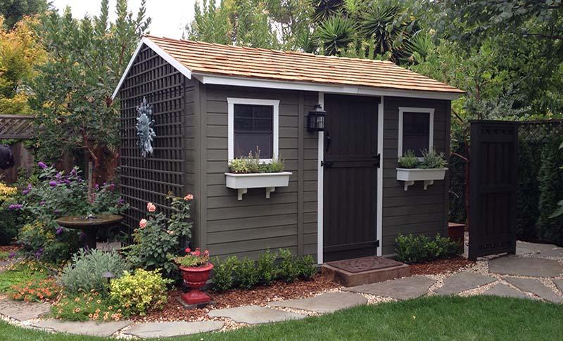Building a Decorative Garden Shed - O