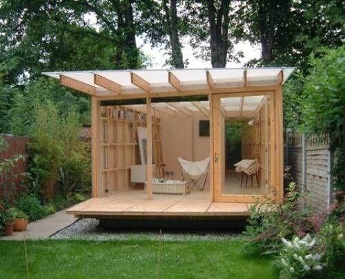 Contemporary Garden Shed Plans | Backyard studio, Garden buildings .