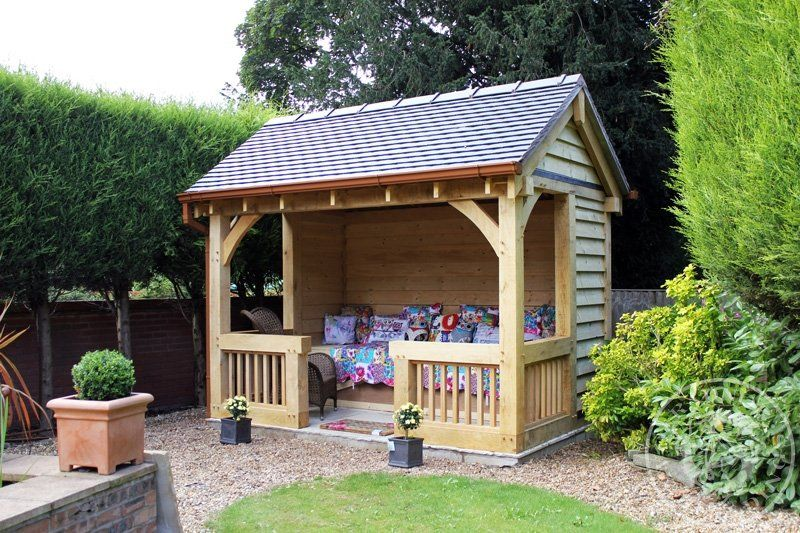 Garden barbecue shelter | Summer house garden, Garden gazebo, Oak .