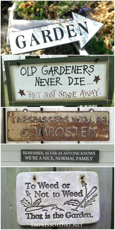 40 Funny Cute Sarcastic and Sentimental Garden Signs | Garden .