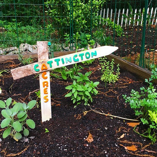 DIY Garden Sign from Old Fence Stak