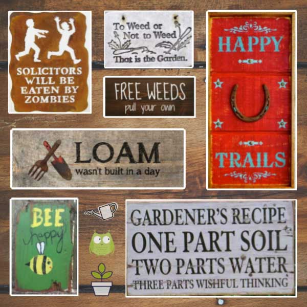 40 Funny Cute Sarcastic and Sentimental Garden Signs | Empress of Di