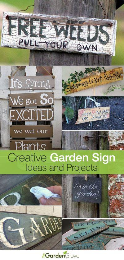 Creative DIY Garden Sign Ideas and Projects | Garden crafts, Diy .