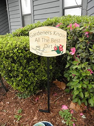 Amazon.com: Gardener sign Garden decor Custom garden signs Garden .