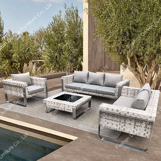Modern Pe Synthetic Wicker Outdoor Sofa Garden Sofa Outdoor Garden .