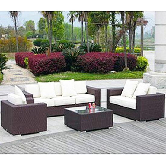 China Anti Fading Modern Wicker Rattan Garden Furniture Sofa Set .